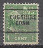 USA Precancel Vorausentwertung Preo, Locals Connecticut, Chashire 703 - Vereinigte Staaten