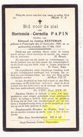 DP Hortensia C. Papin / Kesteman 19j. ° Poperinge 1901 † 1921 - Images Religieuses