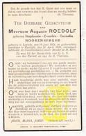 DP Stephanie Zenobie C. Noorenberghe ° Leisele Alveringem 1863 † Kortrijk 1935 X Aug. Roedolf - Images Religieuses