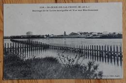 49 : St-Jean-de-la-Croix - Barrage De La Loire Navigable Et Vue Sur Ste-Gemmes - (n°14348) - Francia