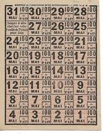 Militaria / Ravitaillement MAI 1919 / Feuille De  Tickets 100 G De Pain - 1914-18