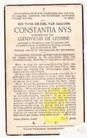 DP Constantia Nys ° Tremelo 1869 † Boortmeerbeek 1937 X Ludovicus De Lessine - Images Religieuses