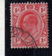 TRANSVAAL 1904 1909 KING EDWARD VII RE EDOARDO ONE PENNY 1p USATO USED OBLITERE' - Sud Africa (...-1961)