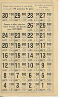 Militaria / Ravitaillement Septembre 1919 / Feuille De  Tickets 100 G De Pain - 1914-18