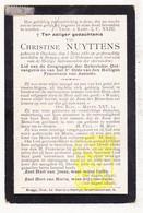 DP Christine Nuyttens ° Oekene Roeselare 1850 † Brugge 1903 - Images Religieuses