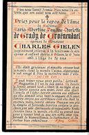 Faire-part Décès Charlotte De GRADY De GROËNENDAEL Du 13/6/1883 à Bruges. - Décès