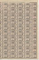Militaria / Ravitaillement 1919 / Feuille De  Tickets 100 G De Pain Pour Militaire En Permission - 1914-18