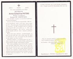 DP Anna Celestine Pieters ° Diepenbeek 1875 † Genk 1958 X Joseph De Gronckel (° Wolvertem) / Eersels Helmet - Images Religieuses