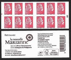 CARNET 12TP YSEULT YZ - TVP LP -  LA NOUVELLE MARIANNE - REPERE MILIEU GAUCHE - NEUF - NON PLIE - Carnets