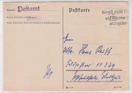 KONSTANZ POSTAMT POSTKARTE 30.09.1939 KRIEG DEUTSCHES REICH - Allemagne