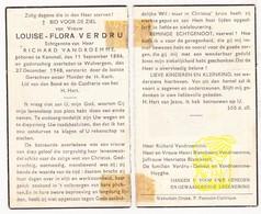 DP Louise Flora Verdru ° Kemmel 1886 † Wulvergem 1948 X Rich. VanDroemme / Blanckaert Dehaut Huyghe - Images Religieuses