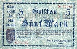 Notgeld  5 Mark  Elberfeld Kassenfrisch - [11] Emissioni Locali