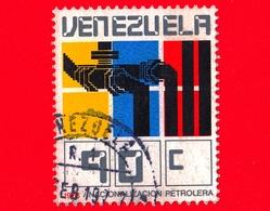 VENEZUELA - Usato - 1976 - Nazionalizzazione Dell'industria Petrolifera - 90 - Venezuela