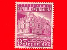 VENEZUELA - Usato - 1962 - Posta Centrale, Caracas - Main Post Office - 95 - Posta Aerea - Venezuela