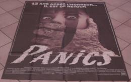 AFFICHE CINEMA ORIGINALE FILM PANICS Andrew FLEMING HORREUR Jennifer RUBIN Bruce ABBOTT 1988 TBE - Posters