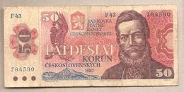 Cecoslovacchia - Banconota Circolata Da 50 Corone P-96a - 1987 - Tchécoslovaquie