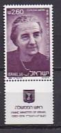 ISRAEL, 1981, Unused Hinged Stamp(s), With Tab, Golda Meir, SGnr. 803, Scannr. 17508 - Israel