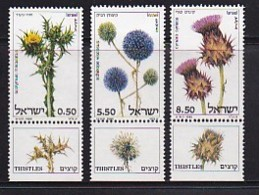ISRAEL, 1980, Unused Hinged Stamp(s), With Tab, Thistels, SGnr. 771-773, Scannr. 17502 - Israel