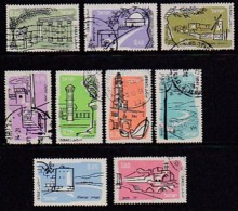 ISRAEL, 1960, Used Stamp(s), Without Tab, Airmail,  SGnr.183=185a, Scannr. 17518,  9 Values Only - Israel