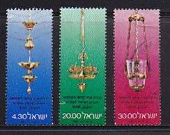 ISRAEL, 1980, Used Stamp(s), Without Tab, Jewish New Year Sabbath Lamps, SGnr. 778-780, Scannr. 17506 - Israel