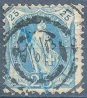 Stehende Helvetia 73E,  ANNULIERUNGSSTEMPEL          1903 - Usati