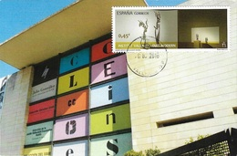 SPAIN. MAXICARD. VALENCIAN INSTITUTE OF MODERN ART. MUSEUM. VALENCIA 2016 - Tarjetas Máxima
