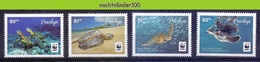 Nfa025s WWF FAUNA REPTIELEN SCHILDPAD PACIFIC GREEN TURTLE REPTILES TURTLE SCHILDKRÖTEN PENRHYN 2014 PF/MNH - W.W.F.
