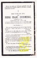 DP Henri F. Overmeire ° St.-Laureins 1864 † 1929 X Virginie De Geeter - Images Religieuses