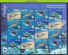 Nfa027MSc WWF FAUNA REPTIELEN SCHILDPAD PACIFIC GREEN TURTLE REPTILES TURTLE SCHILDKRÖTEN PENRHYN 2014 PF/MNH - W.W.F.