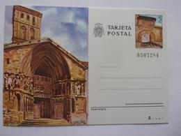 Entier Postal Espagne Iglesia De San Bartolomé, Logrono,  Arco Del Revellin , église Espana Tarjeta Postal - Eglises Et Cathédrales