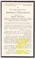 DP Rosalia Ouplinus ° Ledegem 1854 † 1934 X Bruno Messiaen - Images Religieuses