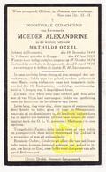 DP EZ Mathilde Ozeel - Moeder Overste Zr. Alexandrine ° Dranouter Heuvelland 1849 † Langemark 1936 / Klooster Brugge - Images Religieuses