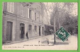 ANTIBES / HOTEL DES POSTES ET TELEGRAPHES.../  Carte écrite En . 1908 - Antibes
