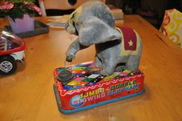 Très Rare Automate Jumbo The Bubble Blowing Elephant (Dumbo) Fabrication Japonaise - Jouets Anciens