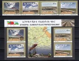 Ethiopia 2018 Djibouti- Electrified Railway SS + 4v MNH - Trains