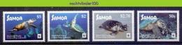 Nfa029s WWF FAUNA REPTIELEN SCHILDPAD HAWKSBILL TURTLE REPTILES TURTLE SCHILDKRÖTEN SAMOA 2016 PF/MNH - W.W.F.