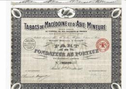 75-TABACS DE MACEDOINE ET D'ASIE MINEURE. 1923. P F - Actions & Titres