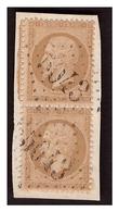 Paire Du N° 21 Obl. GC 5043 MEDEAH  ( Algérie ) - 1862 Napoléon III.