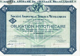 75-TRAVAUX METALLIQUES. 130 Rue Lafayette Paris - Actions & Titres