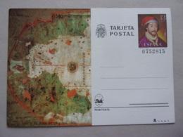 Entier Postal Espagne Carte De Juan De La Cosa 1500 Espana Tarjeta Postal - Géographie