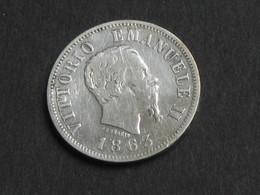 50 Centesimi 1863 M BN - ITALIE - Victorio Emanuele II - Regno D'Italia  **** EN ACHAT IMMEDIAT **** - 1861-1946 : Royaume
