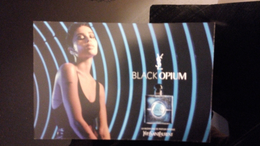 Yves Saint Lauren Black Opium Parfum Carte Size Carte Postale - Perfume Cards