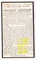 DP Maurice Opsomer / Materne ° Rijsel Lille FR Nord 1915 † Ledegem BE 1937 - Images Religieuses