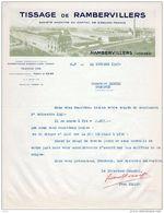 TISSAGE De RAMBERVILLERS   (Vosges)   Belle Illustration - France