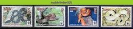 Nfa032s WWF FAUNA REPTIELEN SLANGEN PACIFIC TREE BOA REPTILES SNAKE SCHLANGEN SAMOA 2015 PF/MNH - W.W.F.