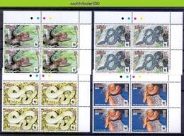 Nfa033s4x WWF FAUNA REPTIELEN SLANGEN PACIFIC TREE BOA REPTILES SNAKE SCHLANGEN SAMOA 2015 PF/MNH - W.W.F.
