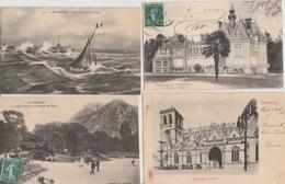 19/2/ 276. -  LOT  DE  8   C  P A  &  4  C P S M   DE  CHERBOURG  ( 50 ) Toutes   Scanées - Cartes Postales
