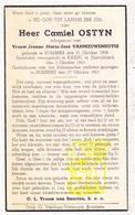 DP Krijgsgevangene WO II 40-45 Camiel Ostyn ° Rumbeke Roeselare BE 1908 † Kassel Hessen DE 1943 X J. VanNieuwenhuyse - Images Religieuses