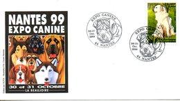 FRANCE. N°3285 Sur Enveloppe Commémorative De 1999. Expo Canine à Nantes. - Honden
