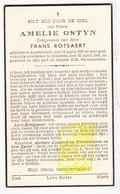 DP Amelie Ostyn ° Assebroek Brugge 1860 † Oedelem Beernem 1944 X Frans Rotsaert - Images Religieuses